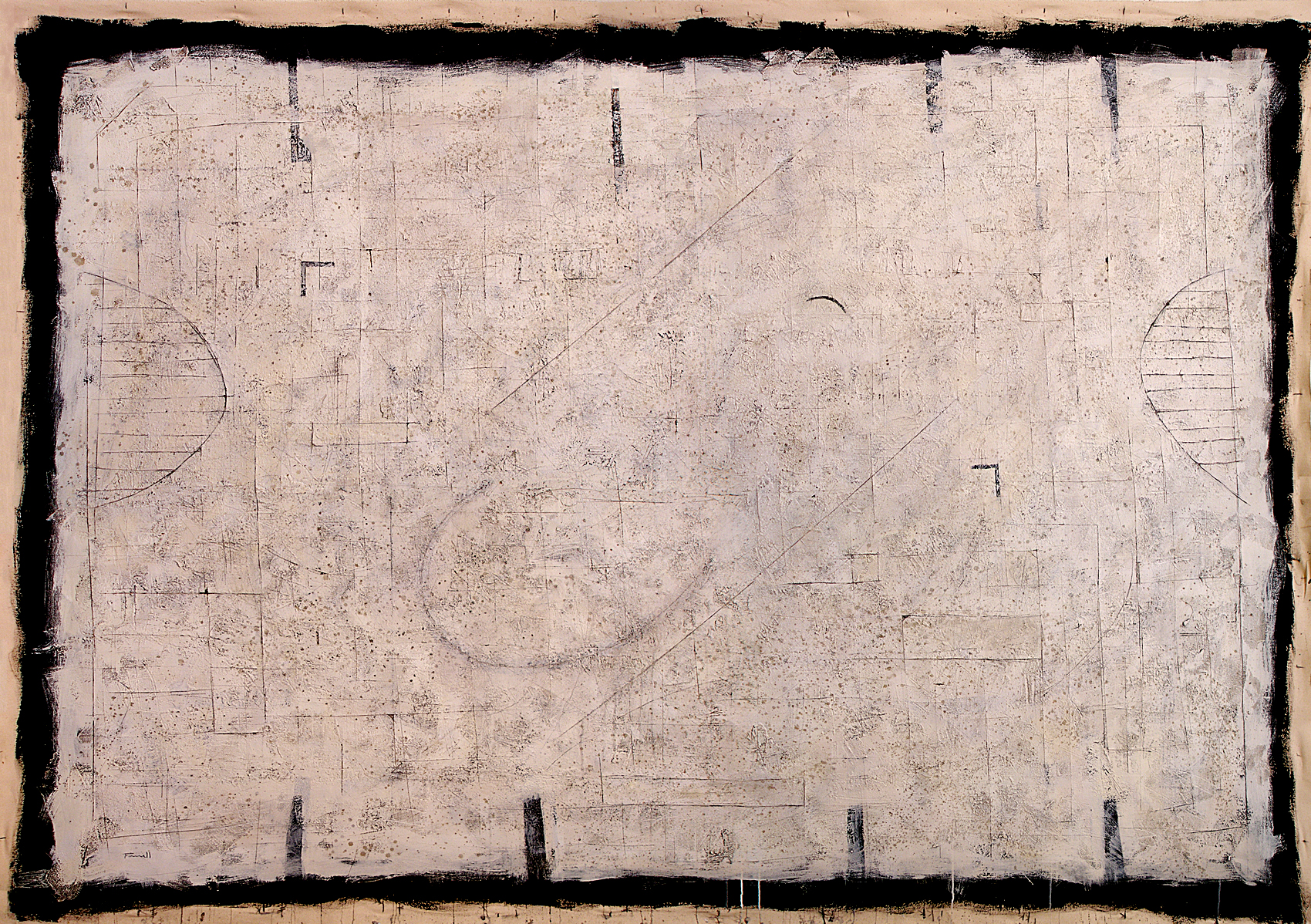Markings XVI -70 x 96 in (178 x 244 cm) - mixed media on canvas