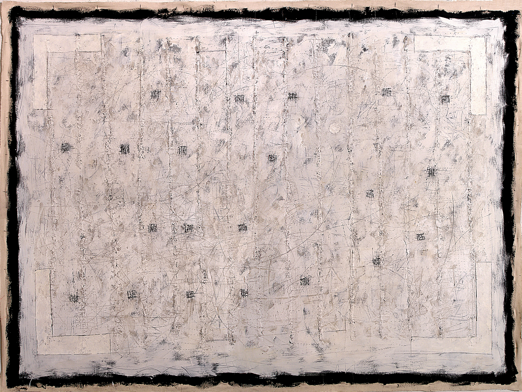 Markings XV - 70 x 96 in - mixed media on canvas